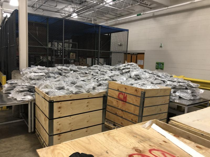 1,031lbs seized at Fort Street Cargo