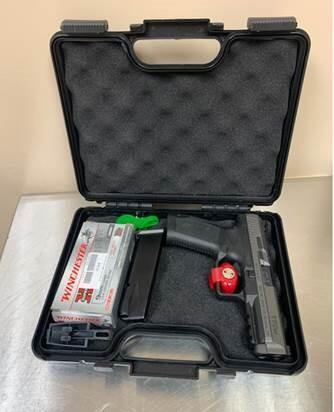 JFK CBP Seize Hand Gun