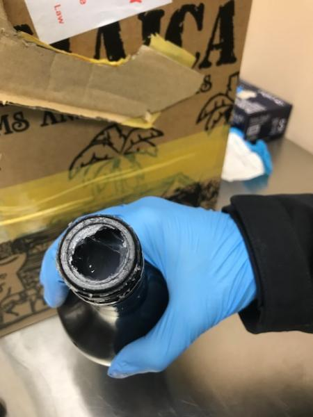 CBP JFK Seize Cocaine in Bottles of Bailey's