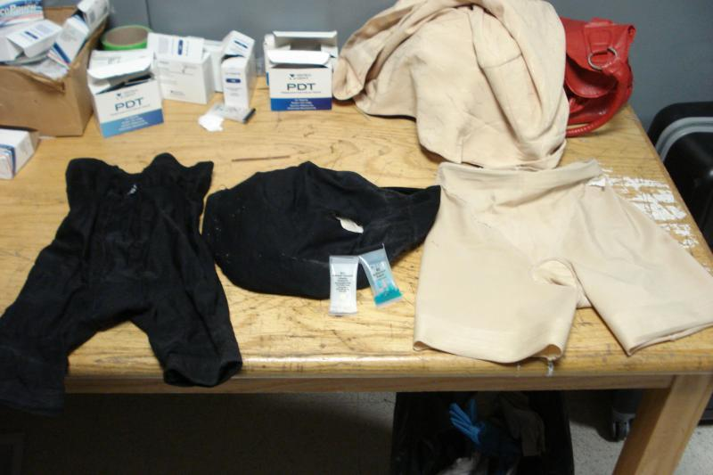Girdle and underwear that had the cocaine hidden inside