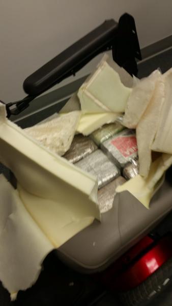 CBP JFK Seizes Cocaine in Wheel Chair