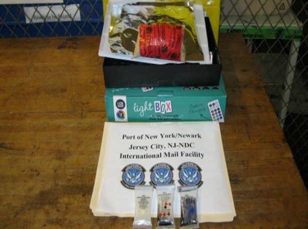 CBP at Newark seizes MDMA in Package