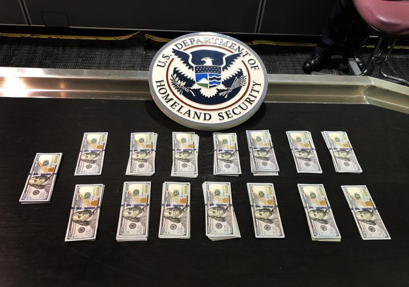 CBP officers seized $20,850 in unreported currency from a Nigerian couple May 31, 2019 at BWI airport.
