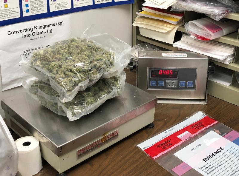 Baltimore CBP officers seized more than two pounds of marijuana being shipped to Maryland from British Columbia, Canada January 6, 2020.