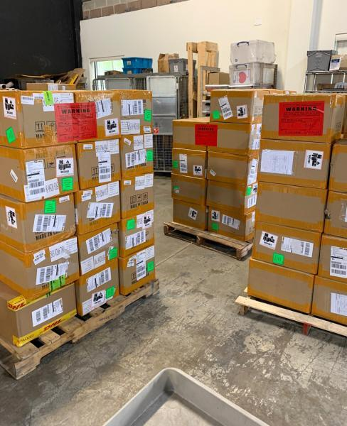 Customs and Border Protection officers in Allentown, Pa., seized 86,000 flavored Alphaa Onee Plus e-cigarettes October 14, 2020 that arrived from China for violating FDA import restrictions.