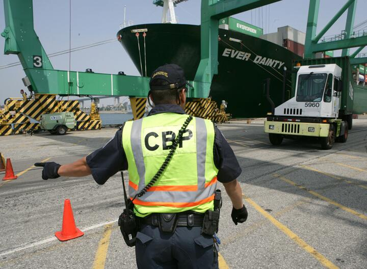 File Photo: CBP inspects container imports for contraband at U.S. seaports.