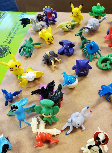CBP officers seized more than 86,000 counterfeit Pokemon action figures in Harrisburg, Pa., May 13, 2020.