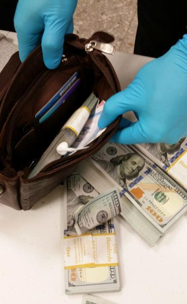 CBP Dulles currency seizure on September 23, 2017