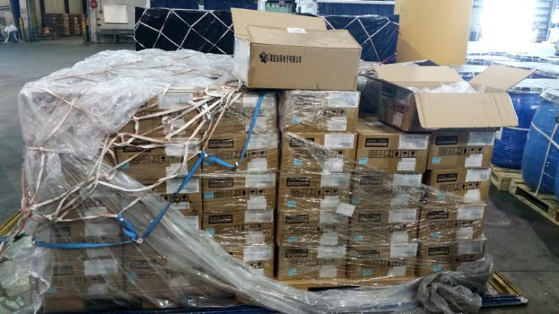 CBP officers seized 120 cases of counterfeit earbuds worth an estimated $360,000 MSRP if authentic.