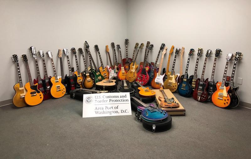 Dulles CBP Picks Counterfeit Guitars to the Tune of $158K