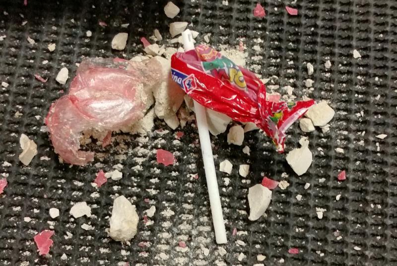 CBP officers discovered heroin concealed inside lollipops at Washington Dulles International Airport April 14, 2017.