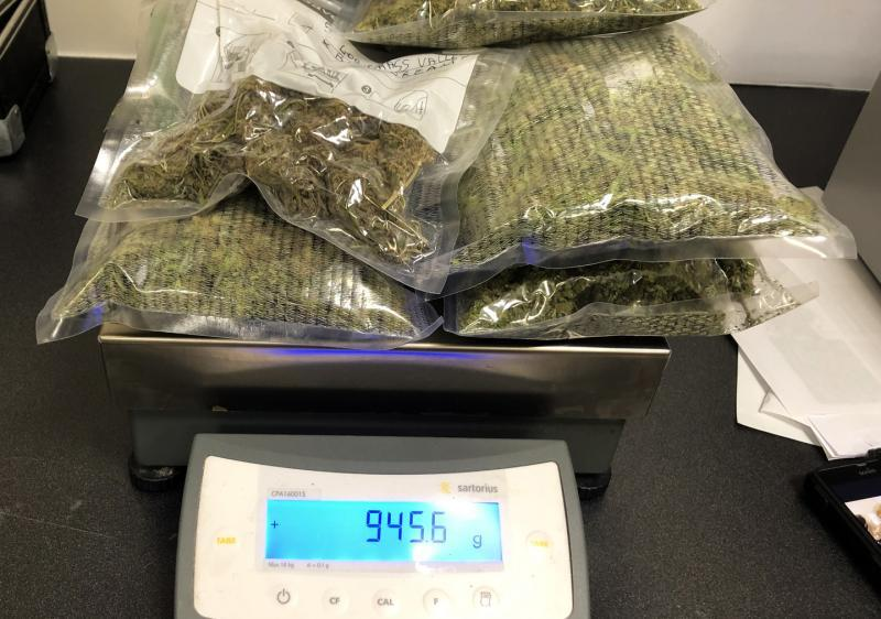 CBP officers at Washington Dulles International Airport seized 945 grams of marijuana and 68 grams of hashish being shipped to Belgium November 28, 2019.