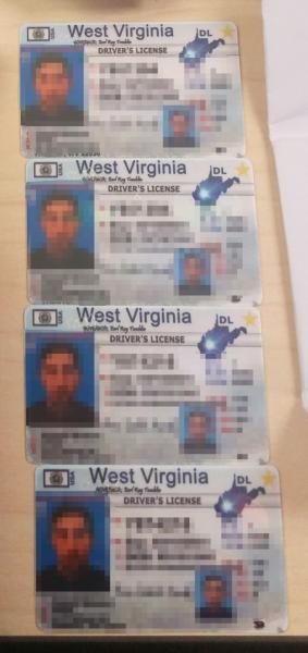 CBP officers also found these fake West Virginia drivers licenses.