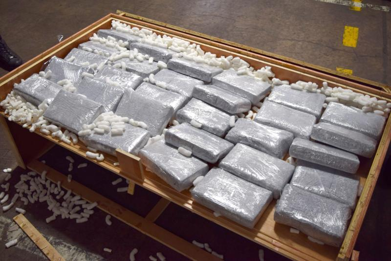 Philadelphia CBP seizes 709 pounds of cocaine November 2, 2017