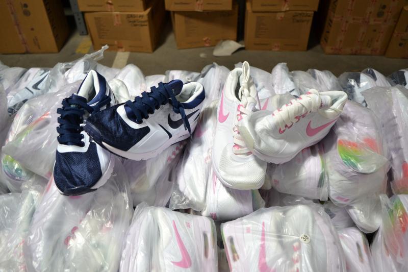 Counterfeit Nike sneakers