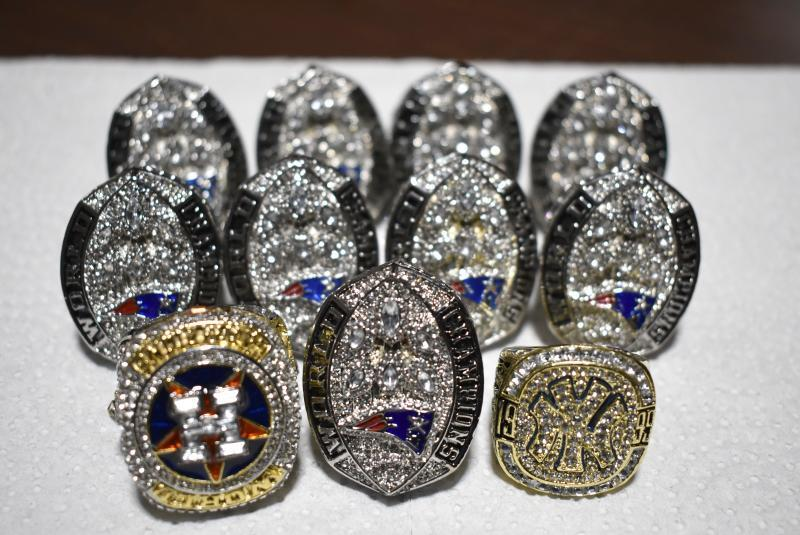Philadelphia CBP officers seized 11 counterfeit sports championship rings November 7, 2019.