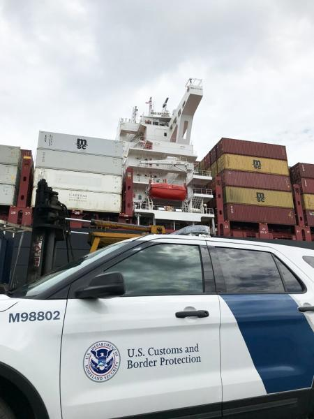 CBP seized the MSC Gayane July 4, 2019 following the record cocaine seizure two weeks earlier.