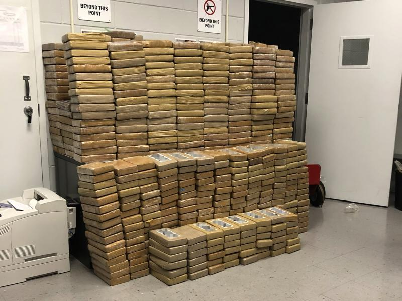 U.S. Customs and Border Protection (CBP) officers at the Port of Savannah, Ga., seized a port-record 2,133 pounds of cocaine October 29, 2019 in a container of scrap aluminum and copper being shipped from South America to Europe.