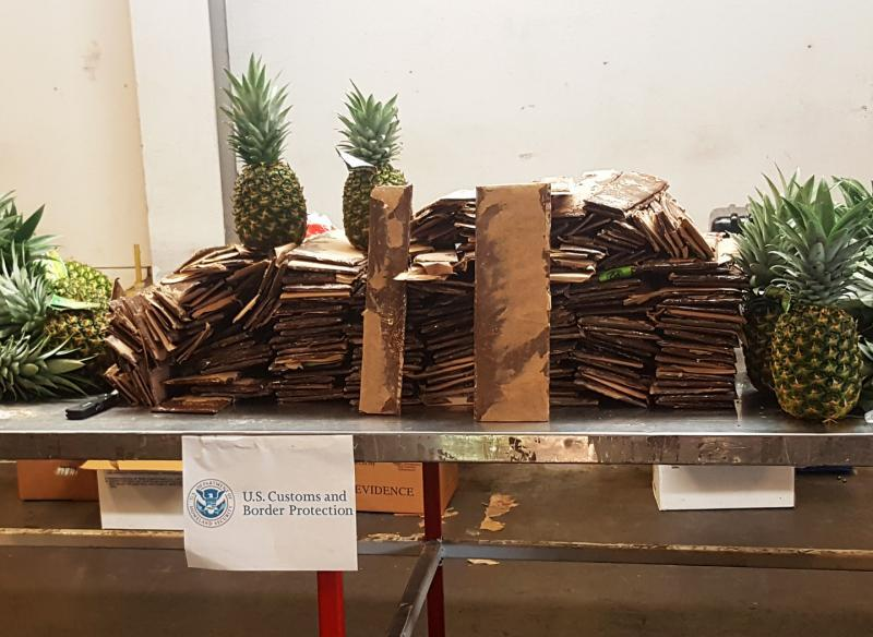 More than 100 pounds of cocaine was discovered in a pineapple shipment from Costa Rica.