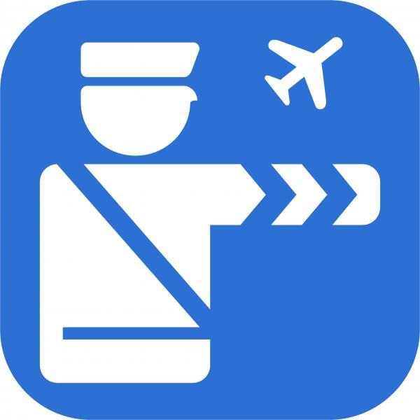 Mobile Passport Control app logo.