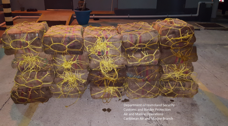 20 bales of cocaine were seized from the vessel