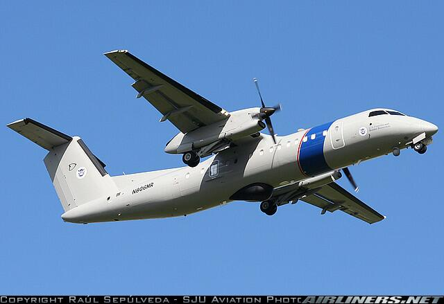 DHC-8 Marine Patrol Aircraft are used in Puerto Rico and the US Virgin Islands to detect smuggling incursions.