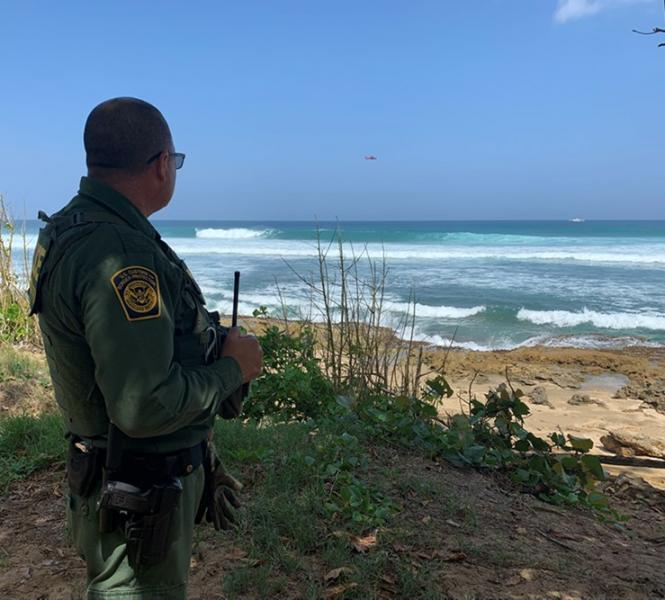 Ramey Agents work with local police to patrol the coast of Puerto Rico
