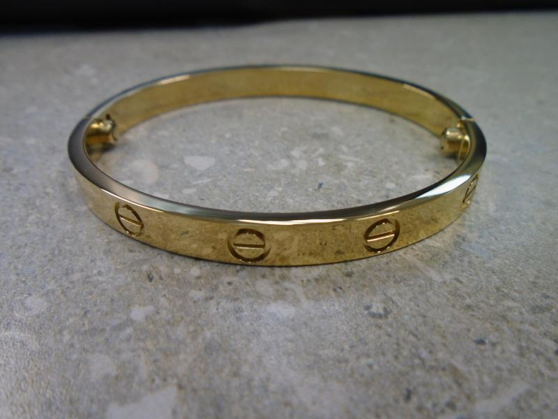 A sample of a counterfeit Cartier bracelet.