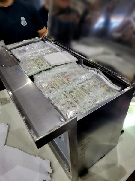 CBO Officers find the concealed currency.