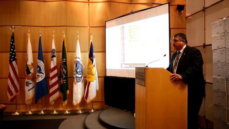 Marcelino Borges, Director of Field Operations addresses federal colleagues as part of the event.