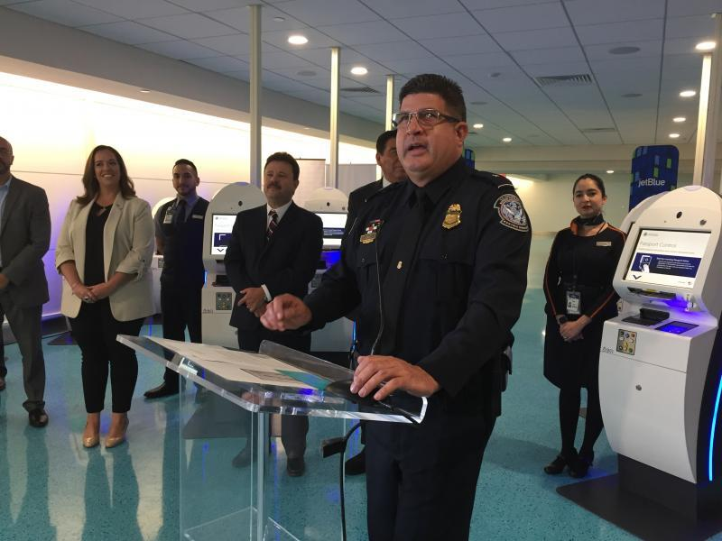 San Juan APD Edwin Cruz provides brief remarks.