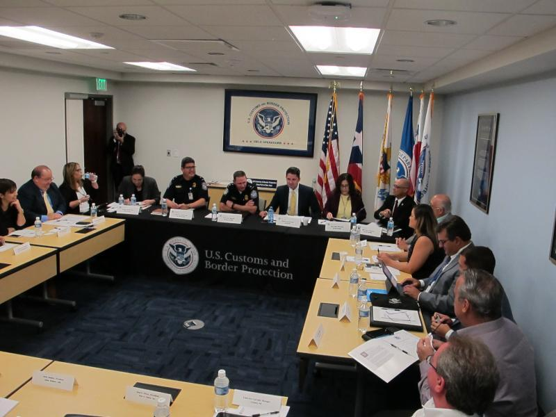 A view of CBP San Juan Field Operations and representatives of the Puerto Rico trade stakeholders.