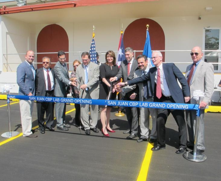 CBP, GSA and project staff during the ribbon-cutting ceremony held at the GSA Federal Center in Guaynabo.