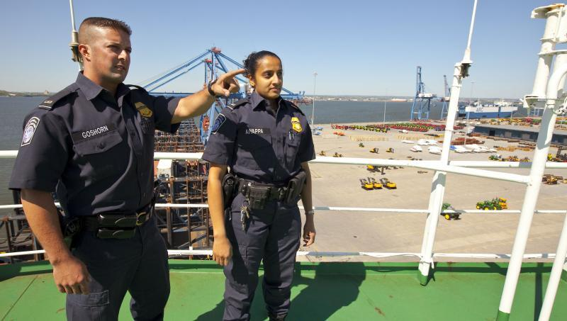 CBP Officers work with the shipping community to address smuggling attempts.