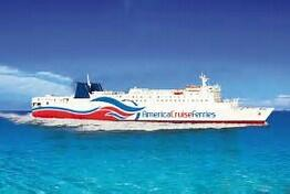 Photo of the ferry that travels between Puerto Rico and Dominican Republic