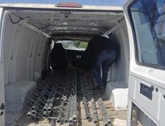 Van with latters