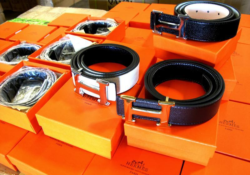 CBP in Los Angeles seized nearly 4,000 counterfeit Hermes belts