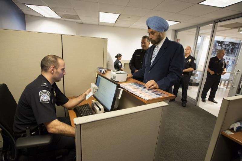Ambassador Navtej Sarna, India's Ambassador to the U.S., was the first Indian citizen to enroll in Global Entry.