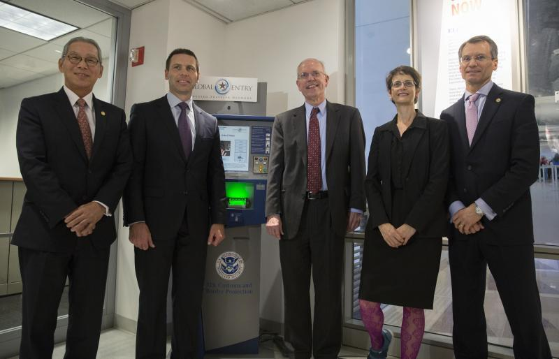 Commissioner McAleenan announces Global Entry expansion at the Global Entry Enrollment Center in Washington, DC.