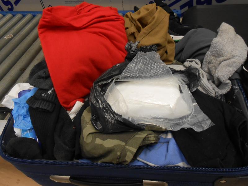 CBP Bahamas-Nassau Preclearance discovered cocaine inside a traveler's luggage.