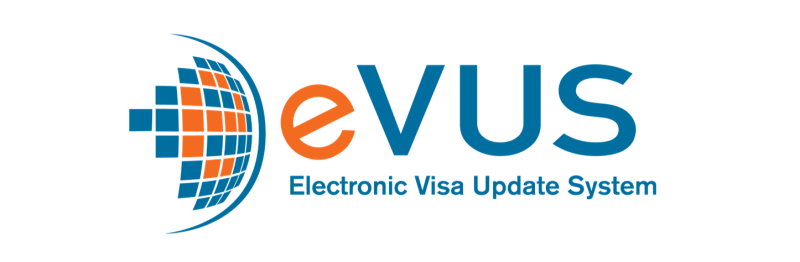 Logo for the Electronic Visa Update System (EVUS)