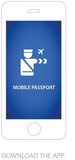 Screenshot of Mobile Passport Control App welcoming page
