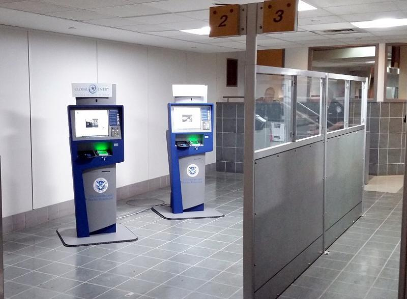 Global Entry Kiosks at Louis Armstrong NOLA International Airport