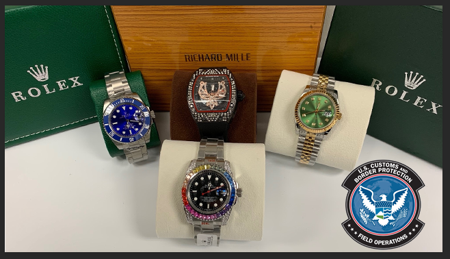 CBP Officers in Boston seized a shipment of counterfeit watches valued at $923,000 MSRP.