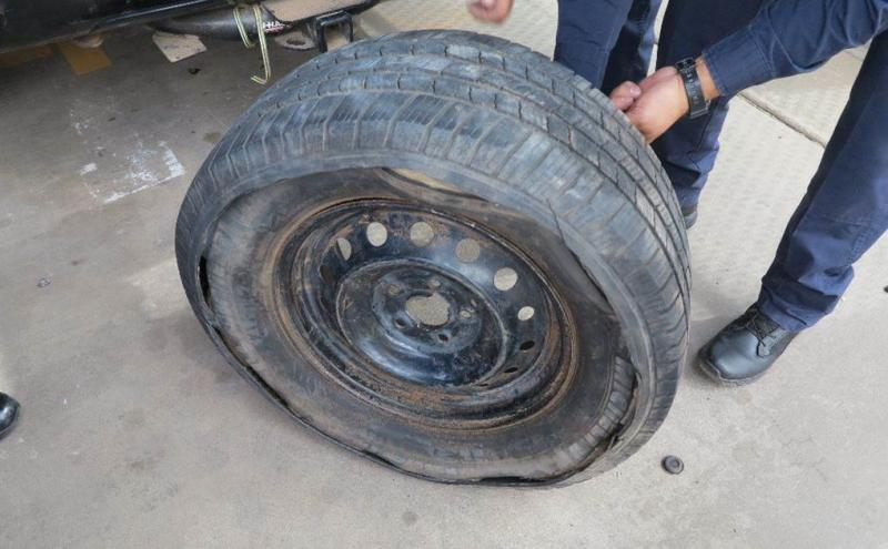 Marijuana seized from inside tire