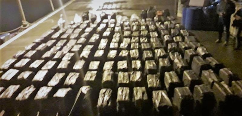 Cocaine seized from vessel
