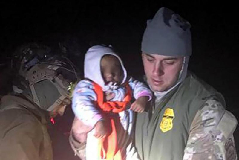 Unaccompanied child rescued by Border Patrol agent