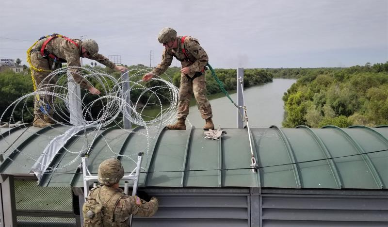 National Guard assisting at the southwest border