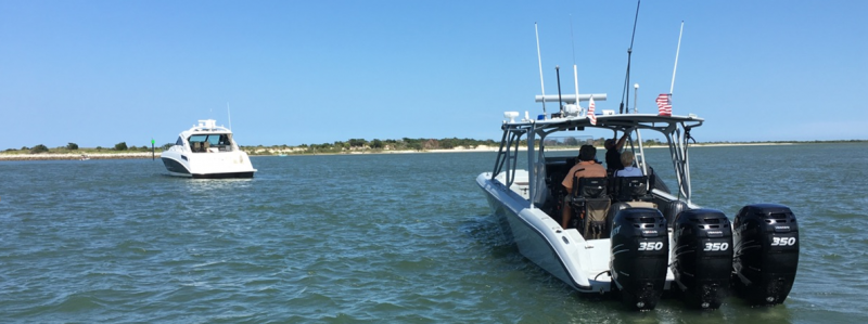 Air and Marine Operations Jacksonville Marine Unit rescued two boaters