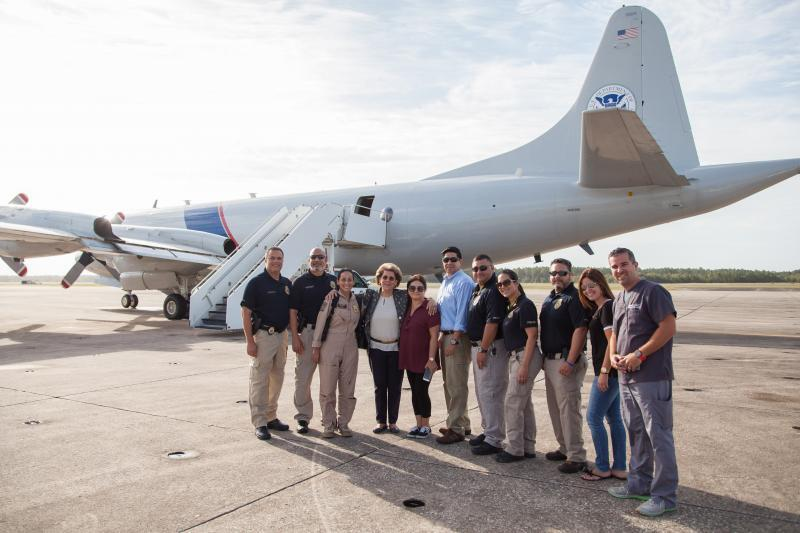 CBP Air and Marine Operations with former U.S. Surgeon General